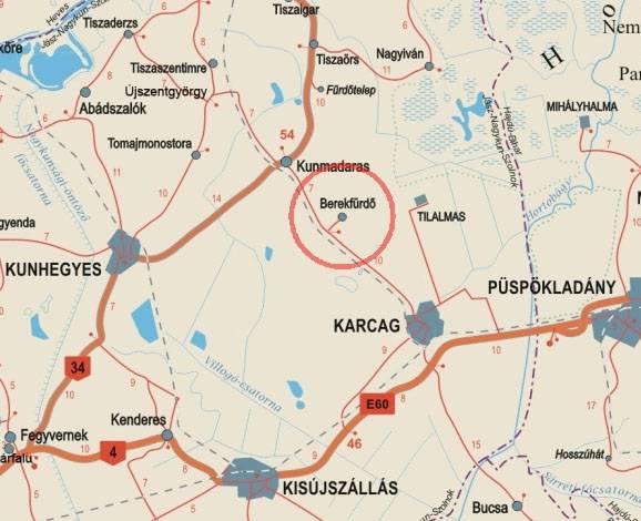 karcag térkép Berekfürdő karcag térkép